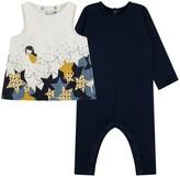 Catimini Baby Girls Navy Stars Print Romper & Dress Set (2 Piece)