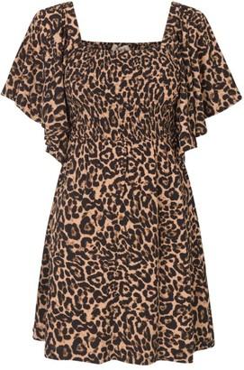 Baum und Pferdgarten Atena Leopard Flutter-Sleeve Dress