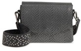 Street Level Textured Faux Leather Crossbody Bag - Black