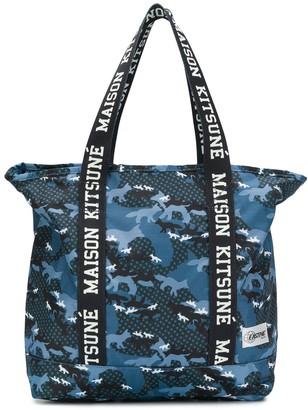MAISON KITSUNÉ Logo Tape Tote Bag