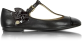 Tory Burch Blossom T-Strap Flat Leather Ballerina