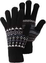 Universal Textiles Mens Fairisle Pattern Knitted Winter Gloves