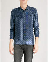 The Kooples Retro flower-print fitted twill shirt
