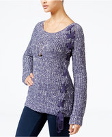 American Rag Lace-Up Sweater, Only at Macy's