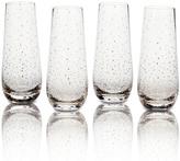 Mikasa Lustre Set of 4 Dots Gold Stemless Flute Glasses