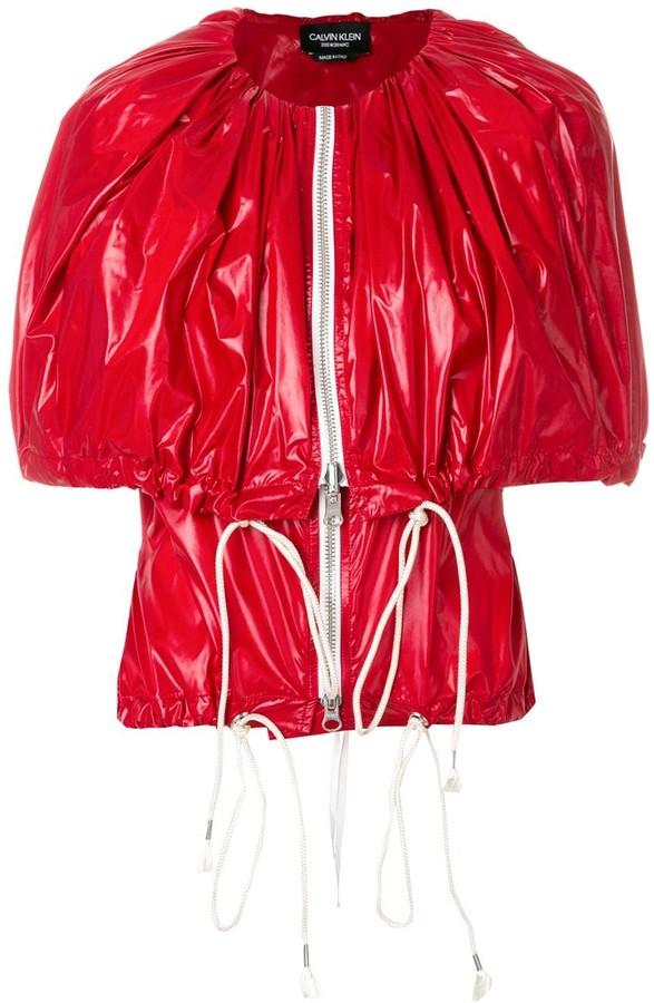 Calvin Klein Zip-Up Cape Jacket