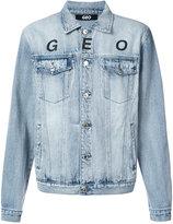 Geo - Globe marble denim jacket