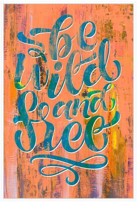 Jonathan Bass Studio Be Wild & Free, Decorative Framed Hand Embellished Canvas