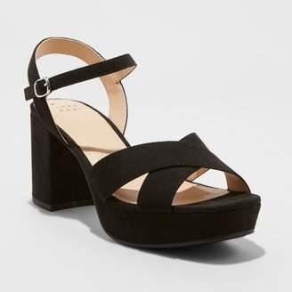 A New Day Women's Gabriella Mid Heel Platform Pumps Black