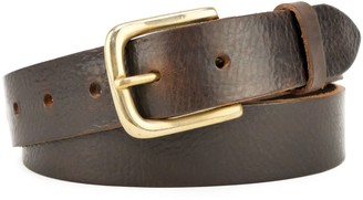 """Village Leathers Classic 1 1/4"""" Brown Leather Belt"""