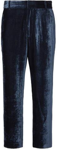 Sies Marjan Alex Cropped Silk And Cotton-Blend Velvet-Corduroy Trousers