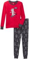 Petit Lem Yeah! Wolf Long Sleeve Pajama Set (Toddler & Little Boys)