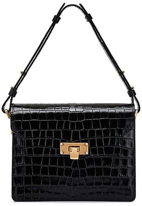Marge Sherwood Croc-Embossed Leather Shoulder Bag