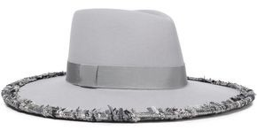 Eugenia Kim Harlowe Tweed-trimmed Wool-felt Fedora