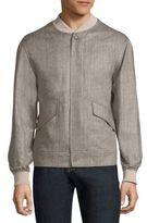 Luciano Barbera Baseball Collar Wool Jacket