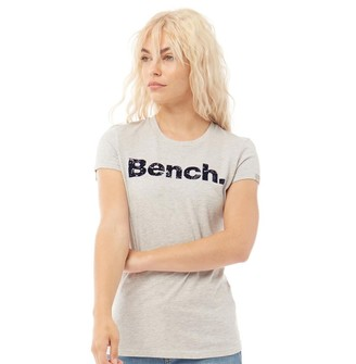 Bench Womens Sheehan Printed T-Shirt Grey Marl