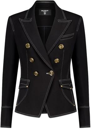 Balmain Stretch-cotton denim blazer