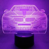 Love Boat Loveboat USB Powered 7 Colors Amazing Optical Illusion 3D Glow LED Lamp Art Sculpture Lights Produces Unique Lighting Effects and 3D Visualization for Home Decor (Cool Car)