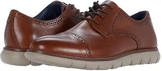 Johnston & Murphy Milson Cap Toe (Tan Full Grain Leather) Men's Shoes