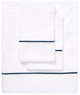 Melange Home Single Stripe Embroidered Sheet Set