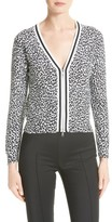 Tracy Reese Women's Print Tipped Cotton Cardigan