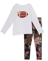 Beary Basics White Personalized Tee & Paisley Leggings - Toddler & Girls