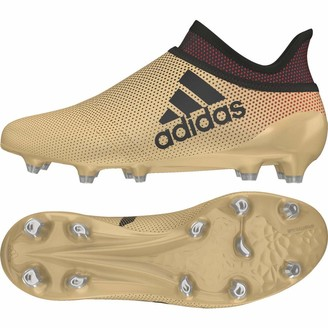 adidas Unisex Kids' X 17+ Fg Footbal Shoes Gold Tagome/Cblack/Solred 4 UK