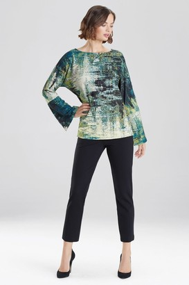 Natori Abstract Tapestry Scuba Crepe Top