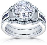 Kobelli Jewelry Kobelli 3 CT TW Forever Brilliant Moissanite and Diamond Platinum 3-Piece Bridal Set