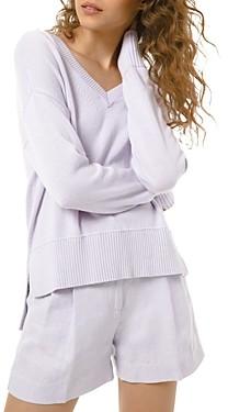 MICHAEL Michael Kors V-Neck Cotton & Cashmere Sweater
