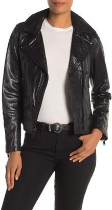 MICHAEL Michael Kors Asymmetrical Leather Moto Jacket