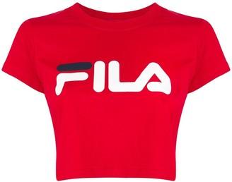 Fila logo-print cropped T-shirt