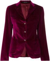 Tagliatore fitted velvet blazer