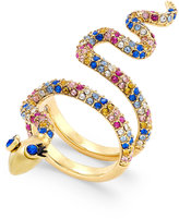 Kate Spade Gold-Tone Colored Crystal Snake Ring