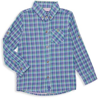 Andy & Evan Little Boy's & Boy's Plaid Button-Down Shirt