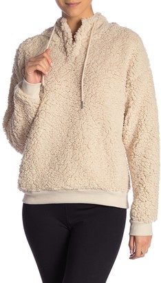 Z By Zella Rare Form Faux Shearling Pullover Hoodie