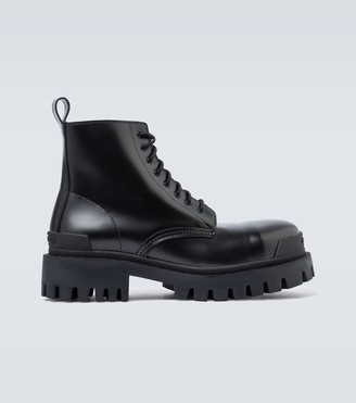 Balenciaga Strike 20mm Bootie leather boots