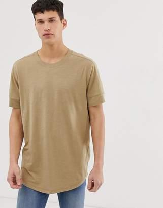 Jack and Jones Originals longline oversized t-shirt in beige