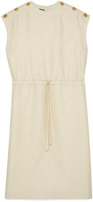 Gucci Diagonal GG stripe wool silk dress