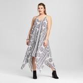 Xhilaration Women's Plus Size Midi Dress Blue Print