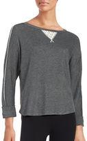 Karen Neuburger Lace Inset Sweatshirt