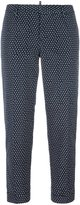 DSQUARED2 square pattern capri trousers - women - Polyester - 42