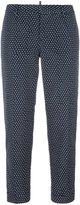 DSQUARED2 square pattern capri trousers - women - Polyester - 42