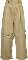 Craig Green laced wide leg trousers - men - Cotton - M