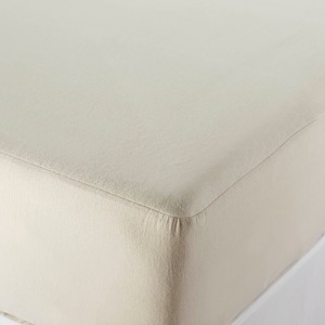 Coyuchi Organic Cotton Mattress Protector Natural, Queen