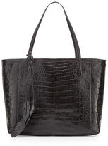 Nancy Gonzalez Erica New Crocodile Leaf Tote Bag
