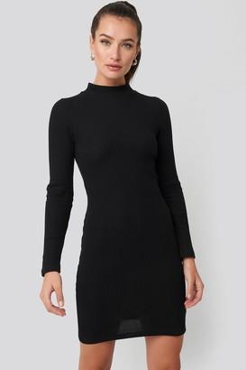 Trendyol Sheer Neck Knitted Mini Dress