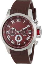 Redline Red Line Men's RL-60041 Chronograph Dial Brown Textured Silicone Watch