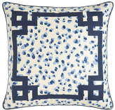 "Jane Wilner Designs Ellie Leopard-Spot Pillow, 20""Sq."
