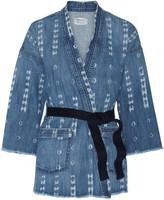 Current/Elliott The Kimono printed stretch-denim jacket